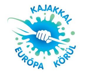 Kajakkal Európa körül logó